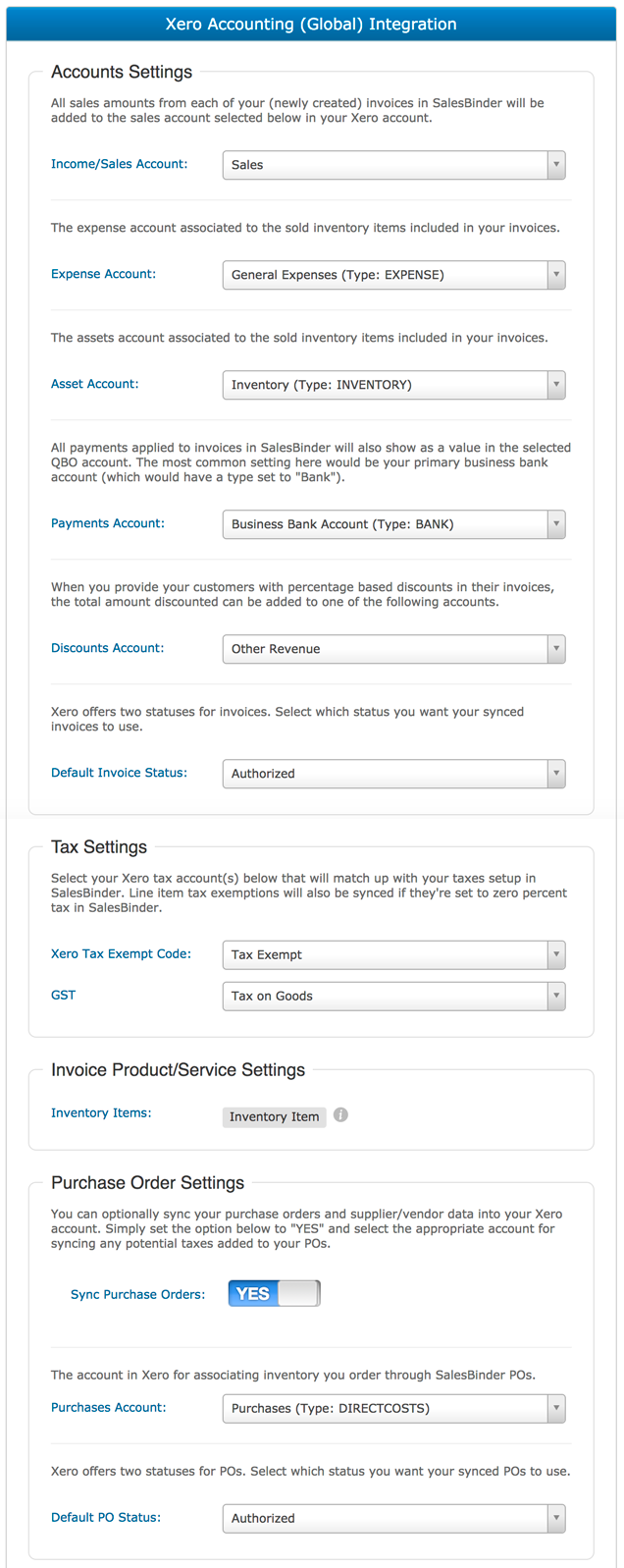 Xero Accounting Integration