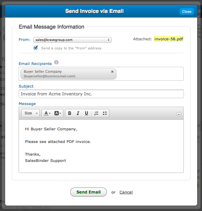 online invoices estimates and purchase orders in the cloud